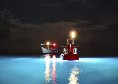 semisubmarine at night by Agena Marin